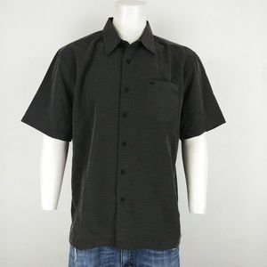 Quiksilver NWT black men's short sleeve shirt
